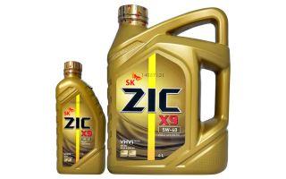 Масло ZIC X9 5W-40: характеристики, плюсы, минусы