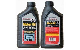 Особенности моторного масла Toyota 5W-30