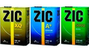 банки масла ZIC