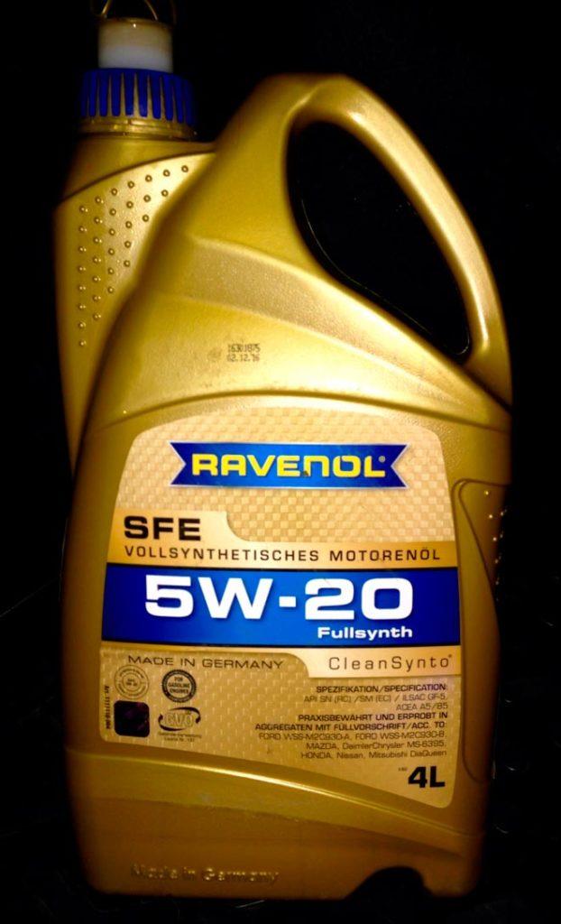 Масло с показателем SAE 5W-20.