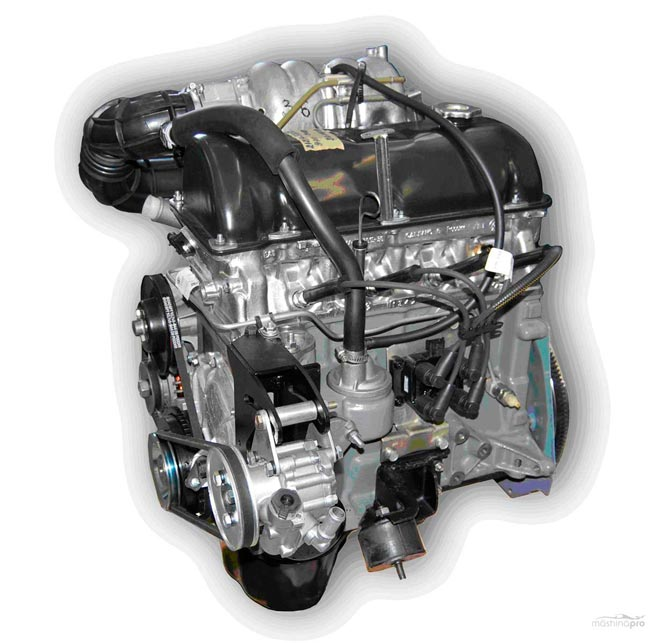 двигатель Нивы в разрезе