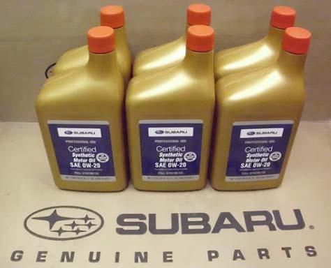 Subaru Motor Oil