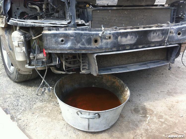 промывка системы радиатора
